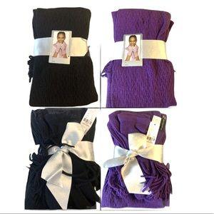 New York & Co. bundle Scarf & Gloves 2 Set Fringe